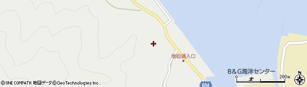 大分県佐伯市鶴見大字地松浦443周辺の地図