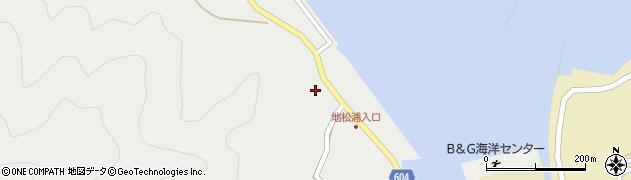 大分県佐伯市鶴見大字地松浦447周辺の地図