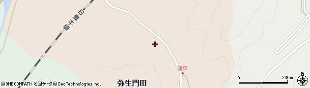 大分県佐伯市弥生大字門田246周辺の地図