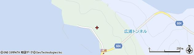 大分県佐伯市鶴見大字中越浦641周辺の地図