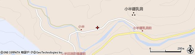 大分県佐伯市本匠大字小半1401周辺の地図
