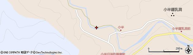 大分県佐伯市本匠大字小半1186周辺の地図