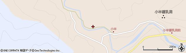 大分県佐伯市本匠大字小半周辺の地図