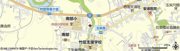 大分県竹田市君ケ園998周辺の地図