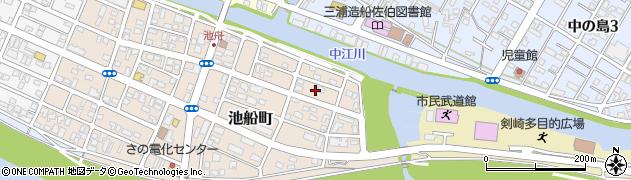 大分県佐伯市池船町8周辺の地図