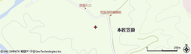大分県佐伯市本匠大字笠掛357周辺の地図