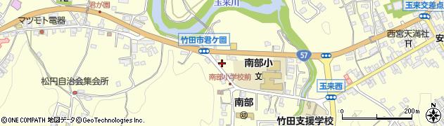 大分県竹田市君ケ園1017周辺の地図