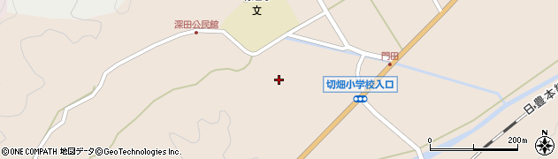 大分県佐伯市弥生大字門田1771周辺の地図