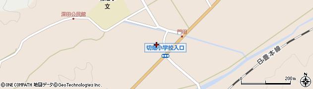 大分県佐伯市弥生大字門田895周辺の地図