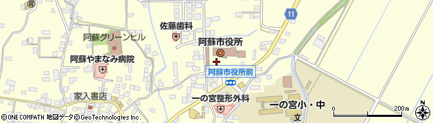 熊本県阿蘇市周辺の地図