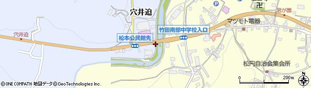 大分県竹田市穴井迫658周辺の地図