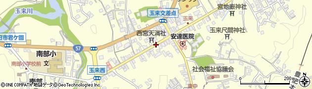 大分県竹田市玉来玉来西中周辺の地図