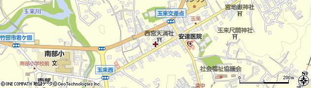 大分県竹田市玉来888周辺の地図