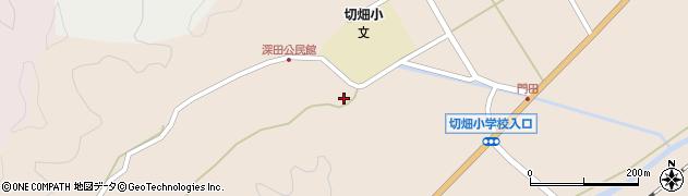 大分県佐伯市弥生大字門田1813周辺の地図