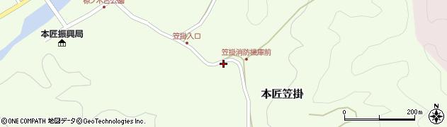 大分県佐伯市本匠大字笠掛692周辺の地図