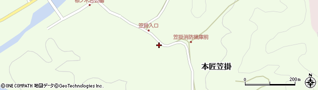大分県佐伯市本匠大字笠掛243周辺の地図