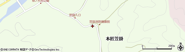 大分県佐伯市本匠大字笠掛693周辺の地図