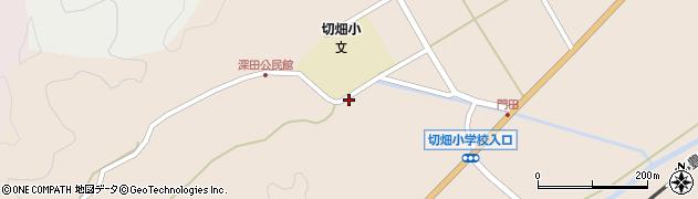 大分県佐伯市弥生大字門田1809周辺の地図