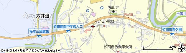 大分県竹田市君ケ園612周辺の地図