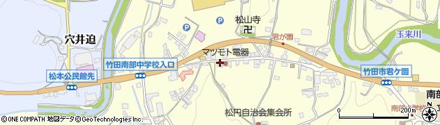 大分県竹田市君ケ園900周辺の地図