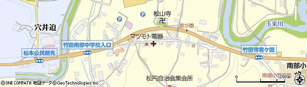 大分県竹田市君ケ園902周辺の地図
