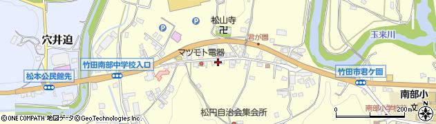 大分県竹田市君ケ園902-3周辺の地図