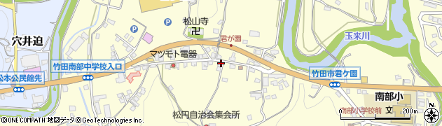 大分県竹田市君ケ園911周辺の地図