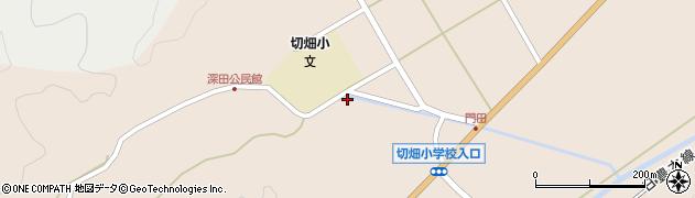 大分県佐伯市弥生大字門田1320周辺の地図