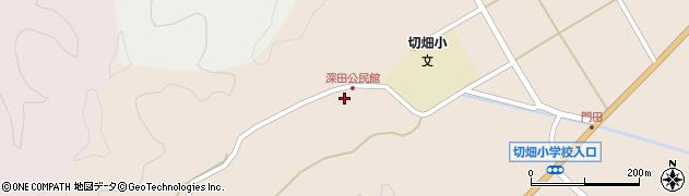 大分県佐伯市弥生大字門田1837周辺の地図