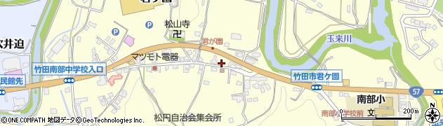 大分県竹田市君ケ園379周辺の地図