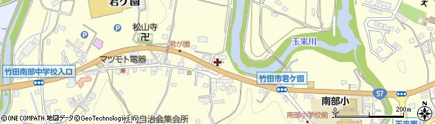 大分県竹田市君ケ園369周辺の地図