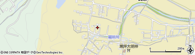 大分県佐伯市稲垣1368周辺の地図