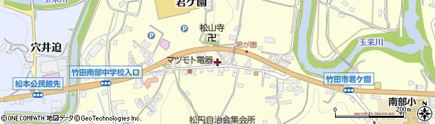 大分県竹田市君ケ園388周辺の地図