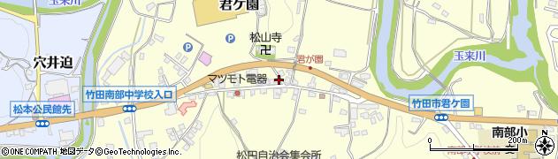 大分県竹田市君ケ園385周辺の地図