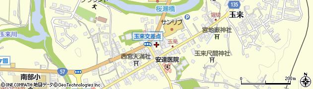 大分県竹田市玉来周辺の地図