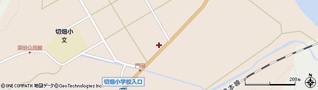 大分県佐伯市弥生大字門田1262周辺の地図