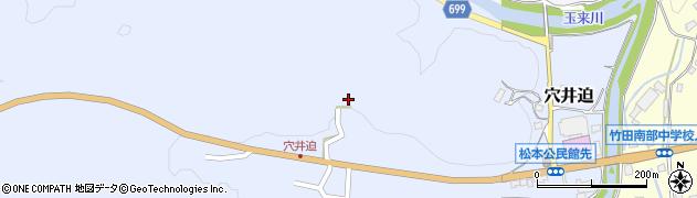 大分県竹田市穴井迫777周辺の地図