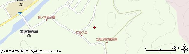 大分県佐伯市本匠大字笠掛959周辺の地図