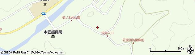 大分県佐伯市本匠大字笠掛1100周辺の地図