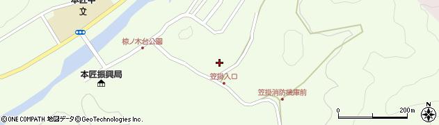 大分県佐伯市本匠大字笠掛1086周辺の地図