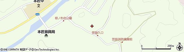 大分県佐伯市本匠大字笠掛1096周辺の地図