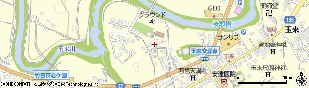 大分県竹田市玉来800周辺の地図