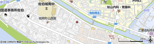 大分県佐伯市城南町1周辺の地図