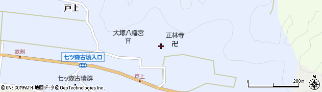 大分県竹田市戸上周辺の地図