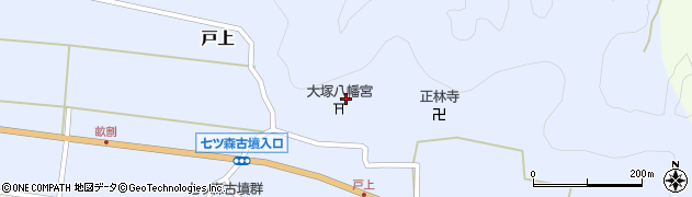 大分県竹田市戸上854周辺の地図