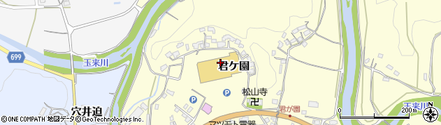 大分県竹田市君ケ園栃瀬周辺の地図