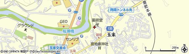 大分県竹田市玉来698周辺の地図