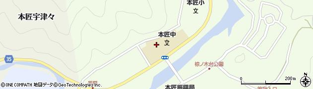 大分県佐伯市本匠大字笠掛1568周辺の地図