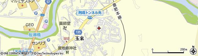 大分県竹田市玉来544周辺の地図