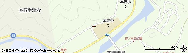 大分県佐伯市本匠大字笠掛1659周辺の地図